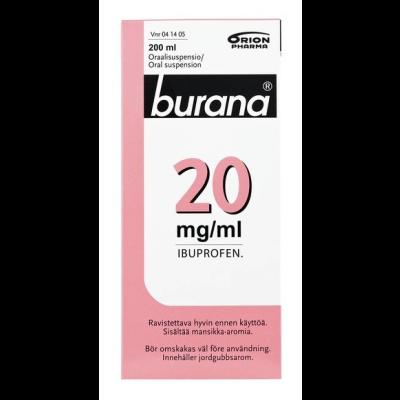 BURANA 20 mg/ml oraalisusp 200 ml