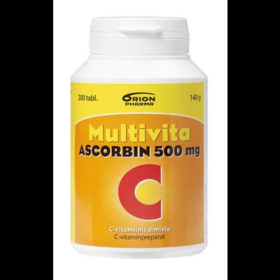 MULTIVITA ASCORBIN 500MG 200 tabl