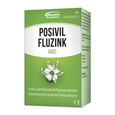 Posivil FluZink Anis 40 tabl