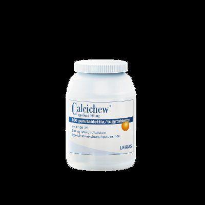 CALCICHEW APPELSIINI 500 mg purutabl 100 kpl
