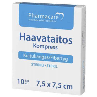 Pharmacare Haavataitos kuituk. 7,5x7,5cm X10 kpl