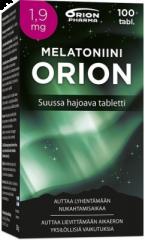 MELATONIINI ORION 1,9 MG SUUSSA HAJOAVA 100 TABL