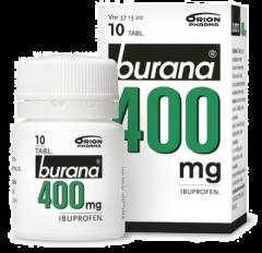 BURANA 400 mg tabl, kalvopääll 10 kpl