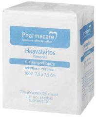 Pharmacare Haavataitos kuituk. 7,5x7,5cm    X100 kpl